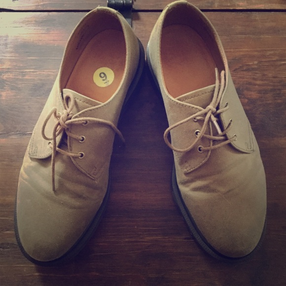 Dr Martens Lester Waxed Canvas Oxfords